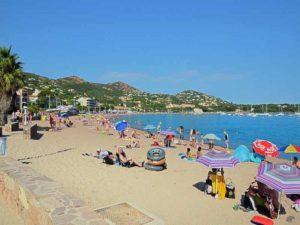 La plage d'Agay